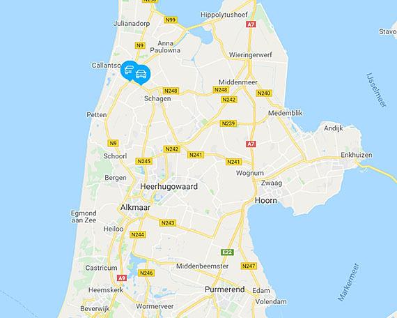 kaart holland Kaart   Provincie Noord Holland